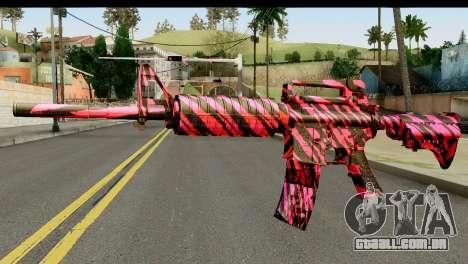 Red Tiger M4 para GTA San Andreas