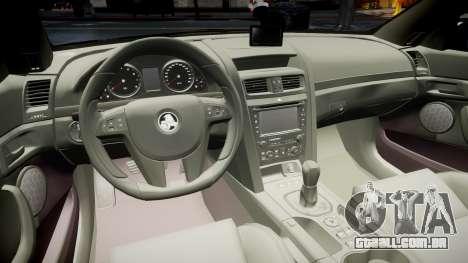 Holden Commodore Omega Queensland Taxi v3.0 para GTA 4 vista de volta
