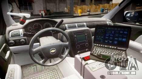 Chevrolet Tahoe 2010 Sheriff Dukes [ELS] para GTA 4 vista de volta