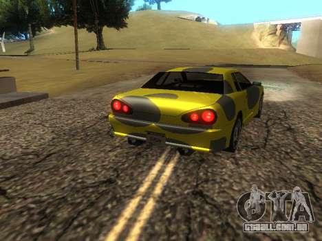Vinil Elegia para GTA San Andreas traseira esquerda vista