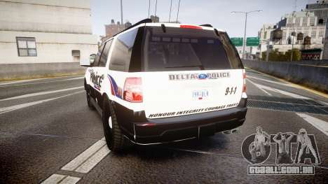 Ford Expedition 2010 Delta Police [ELS] para GTA 4 traseira esquerda vista