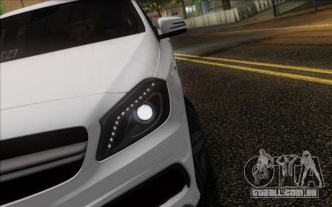 Mercedes-Benz A45 AMG para GTA San Andreas vista inferior