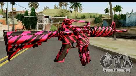 Red Tiger M4 para GTA San Andreas segunda tela