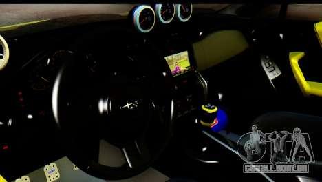 Subaru BRZ 2013 para GTA San Andreas vista traseira