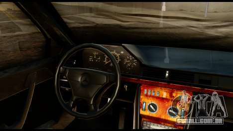 Mercedes-Benz 190E para GTA San Andreas vista traseira