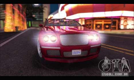 Enus Cognoscenti Cabrio (GTA V) para GTA San Andreas vista direita
