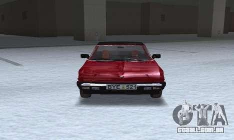 Fiat Bertone X1 9 para GTA San Andreas vista traseira