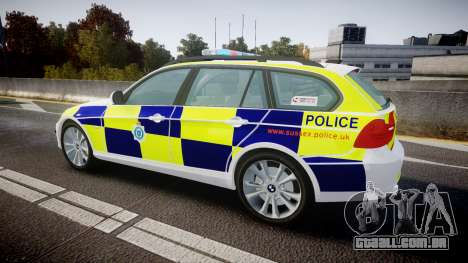 BMW 325d E91 2009 Sussex Police [ELS] para GTA 4 esquerda vista