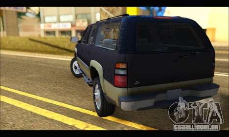 GMC Yukon XL 2003 para GTA San Andreas traseira esquerda vista