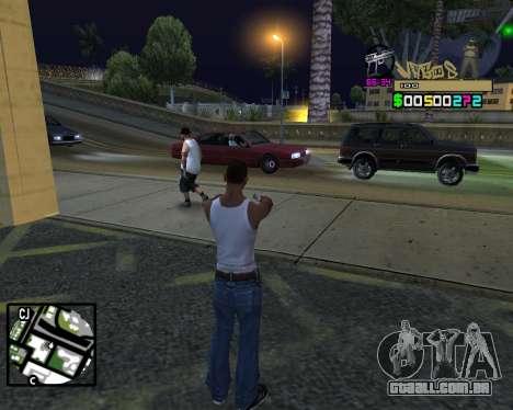 C-HUD Vagos para GTA San Andreas quinto tela