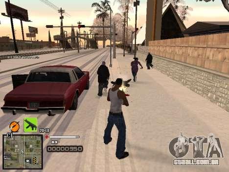 Um simples C-HUD para GTA San Andreas por diante tela