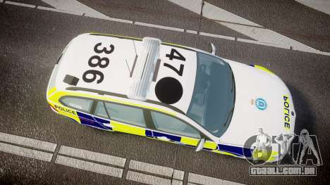 BMW 325d E91 2009 Sussex Police [ELS] para GTA 4 vista direita