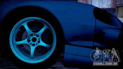 Toyota Сelica para GTA San Andreas traseira esquerda vista