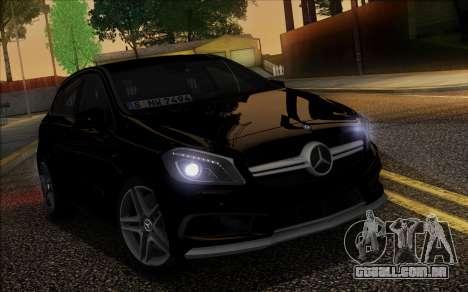 Mercedes-Benz A45 AMG para GTA San Andreas vista superior