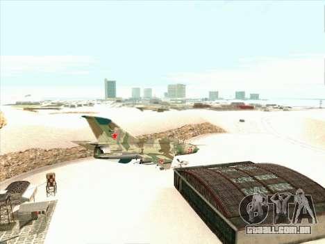 MiG 21 da força aérea Soviética para GTA San Andreas vista direita