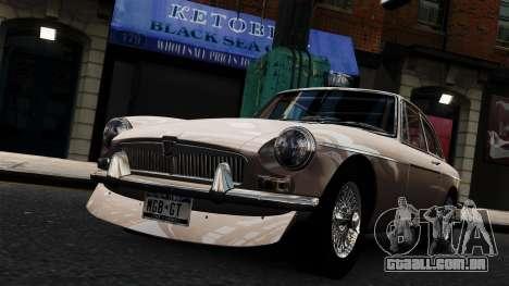 MGB GT 1965 para GTA 4 vista direita