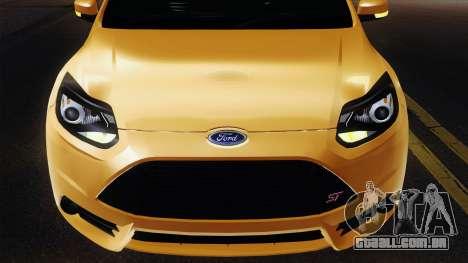 Ford Focus ST 2013 para GTA San Andreas vista interior