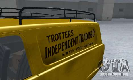 Reliant Supervan Only Fools and Horses para vista lateral GTA San Andreas