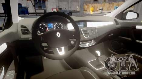 Renault Laguna III 2007 para GTA 4 vista de volta
