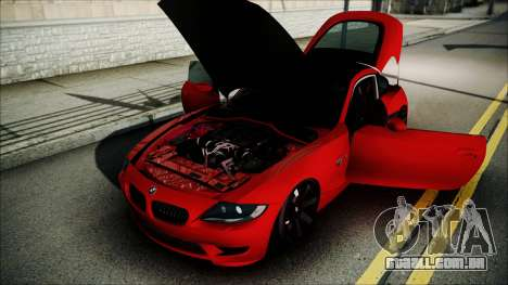 BMW Z4 M85 para GTA San Andreas vista interior