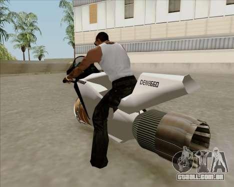 Air bike para GTA San Andreas esquerda vista