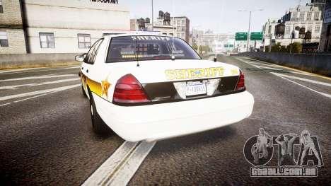 Ford Crown Victoria Sheriff Liberty [ELS] para GTA 4 traseira esquerda vista