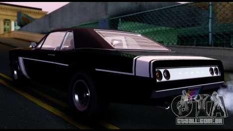 EFLC TBoGT Declasse Tampa SA Mobile para GTA San Andreas traseira esquerda vista