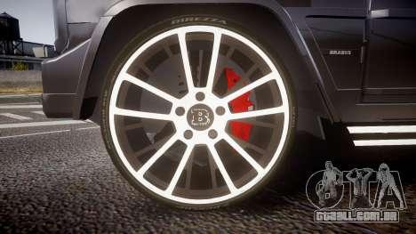 Mercedes-Benz G65 Brabus rims2 para GTA 4 vista de volta