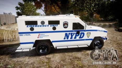 Lenco BearCat NYPD ESU [ELS] para GTA 4 esquerda vista