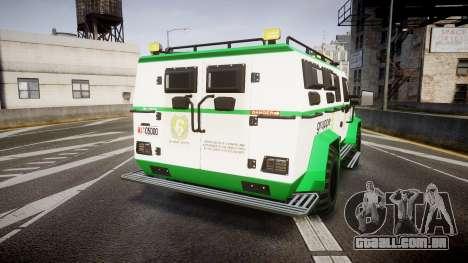 Gruppe6 Van [ELS] para GTA 4 traseira esquerda vista