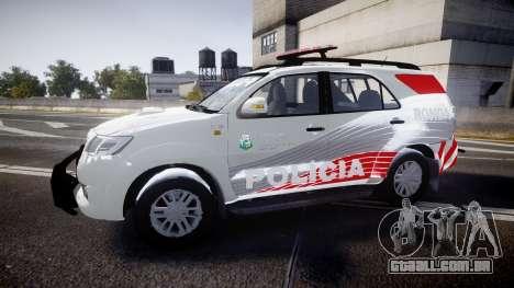 Toyota Hilux SW4 2014 Ronda PMCE [ELS] para GTA 4 esquerda vista