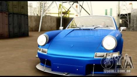 Porsche 911 Carrera 2.7RS Coupe 1973 Tunable para GTA San Andreas interior