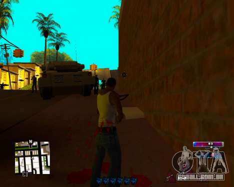 Space C-HUD v2.0 para GTA San Andreas terceira tela