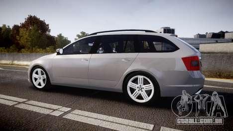 Skoda Octavia Combi vRS 2014 [ELS] Unmarked para GTA 4 esquerda vista