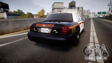 Ford Crown Victoria Sheriff [ELS] rims1 para GTA 4 traseira esquerda vista