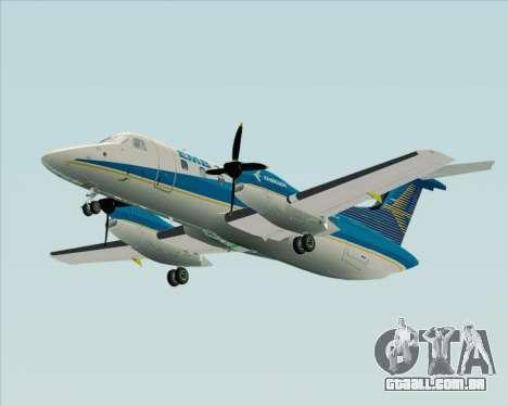 Embraer EMB 120 Brasilia Embraer Livery para GTA San Andreas traseira esquerda vista