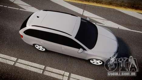 Skoda Octavia Combi vRS 2014 [ELS] Unmarked para GTA 4 vista direita