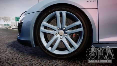 Audi R8 E-Tron 2014 dual tone para GTA 4 vista de volta