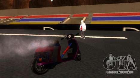 Faggio Stunt para GTA San Andreas traseira esquerda vista