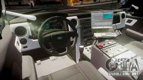 Ford Explorer 2008 LCPD [ELS] para GTA 4 vista de volta