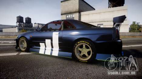Nissan Skyline R34 GT-R Drift para GTA 4 esquerda vista