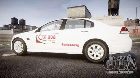 Holden Commodore Omega Queensland Taxi v3.0 para GTA 4 esquerda vista