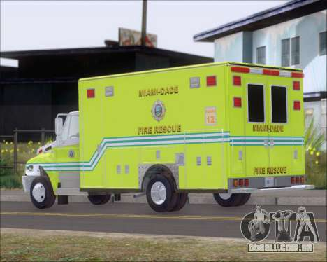 Pierce Commercial Miami Dade Fire Rescue 12 para GTA San Andreas vista direita