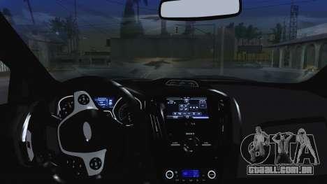 Ford Focus ST 2013 para GTA San Andreas vista superior