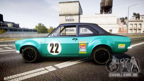 Ford Escort RS1600 PJ22 para GTA 4 esquerda vista