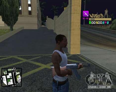 C-HUD Vagos para GTA San Andreas por diante tela