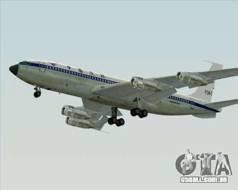Boeing 707-300 CAAC para GTA San Andreas traseira esquerda vista