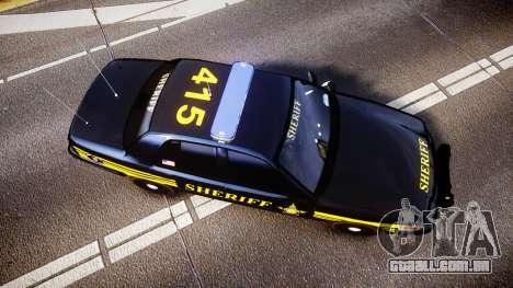 Ford Crown Victoria Sheriff [ELS] black para GTA 4 vista direita