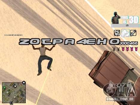 C-HUD 3D para GTA San Andreas sexta tela