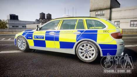 BMW 525d F11 2014 Metropolitan Police [ELS] para GTA 4 esquerda vista
